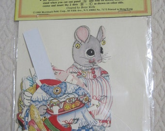 Merrie Mouse, Cut-Out Paper Doll & Costumes, 1988, Vintage