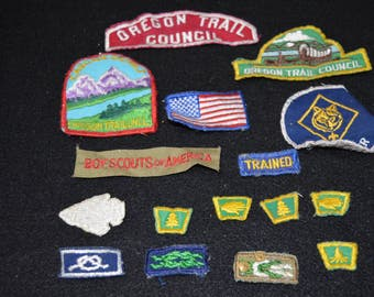 Boy Scouts Patches Collection, Boy Scouts of America Assorted Patches, Cubmaster Patch, Two Pins,  Boy Scout Memorabilia, Patch Collection