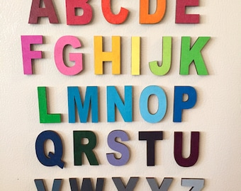 Small Upercase Alphabet Letter Magnets All 26
