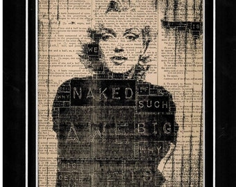 190 Marilyn Monroe vintage dictionary art