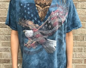 Vintage Eagle Flag Lace Insert Tee (XL)