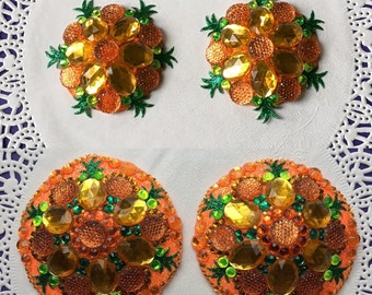 Pineapple Kaleidoscope Pasties