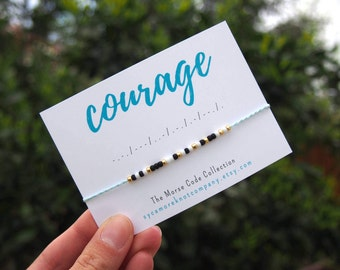 C O U R A G E | Morse Code Bracelet | Courage Secret Message Bracelet