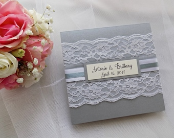 Lace wedding invitations – Etsy