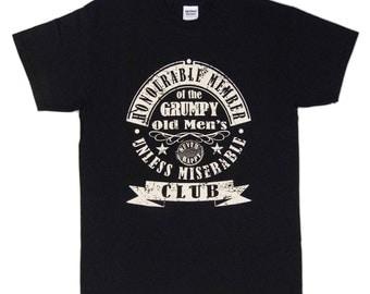 S - 3XL > GRUMPY OLD MAN - Men's black T-shirt