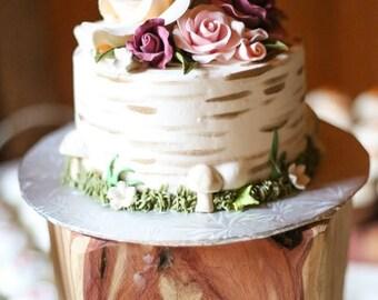 Cedar Wood Cake Stand