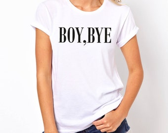 Boy Bye Glitter Optional Vinyl T Shirt