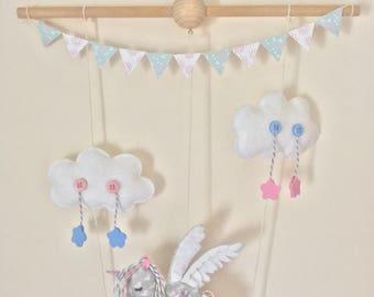Baby Mobile - Baby Girl Nursery Unicorn