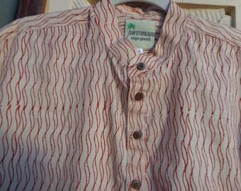 men shirt, limited edition, sam'sstuffkauai, unusual, unique, hand picked fabric,  small batch production
