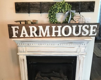 Large farmhouse sign / country sign / hand painted / wall sign / wall decor