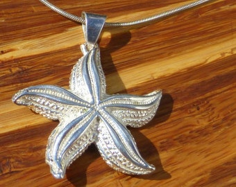Mexican Sterling Silver Starfish Pendant