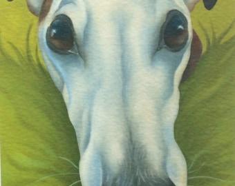Speedy the greyhound painting