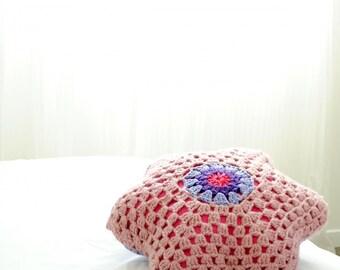 Pillow cover. Handmade pillow. Throw Pillow. Decorative pillow. Orange knit pillow 45cm. Knitted pillow cover. Baby. Mariage. Kids.
