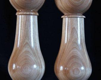 Together massive natural Birch salt shaker and pepper mill