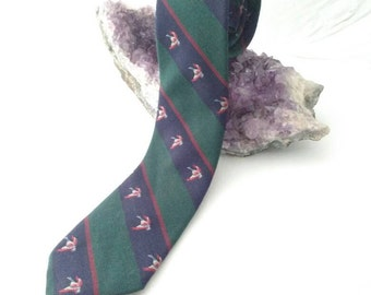 Unlimited Ducks - Redwood & Ross silk and wool necktie - FREE US SHIPPING