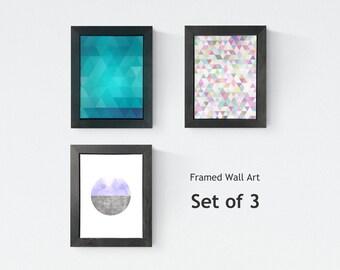 Nordic  Wall Art (Set of 3) - Scandinavian Art - Geometric Design - Wall Art Abstract - Scandinavian Decor