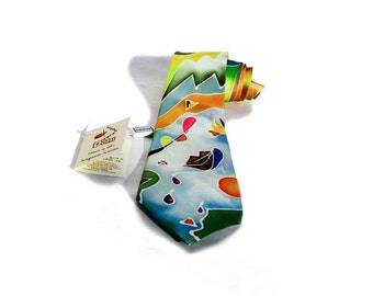 """Hand painted silk tie-""""drops of Passion"""""""