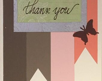 Handmade Greeting Card - Thank You