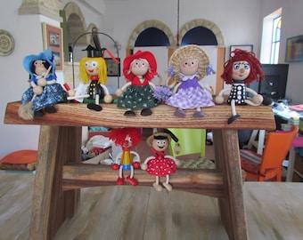 wood toys and maryonett
