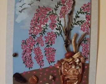 Painting & Collage: Bougainvillia