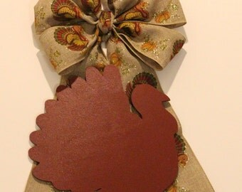 Thanksgiving Bow & Turkey Wood Shape