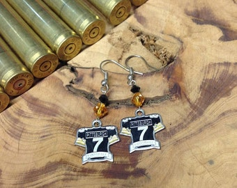 Steeler Earrings w/ Swarovski Crystals #7