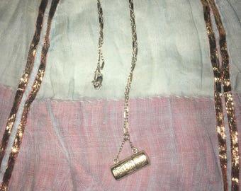 "Antique Victorian 14k ""Love Is Blind"" Necklace"