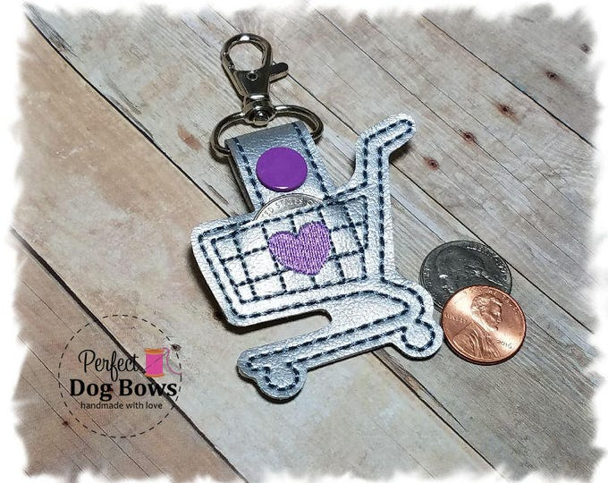 Quarter Keeper Key Chain, Shopping Cart Quarter Keeper, Coin Holder Key Chain, Shopping Cart Key Chain, Gifts for Her