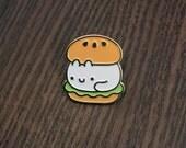 Cat Burger ENOMEL Pin