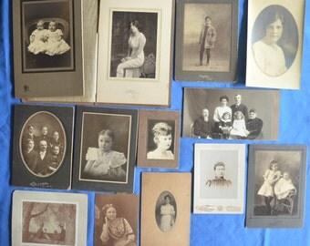 Lot of 20 Antique Photos Early 20th Century Men Women Children