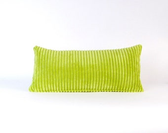 Corduroy Pillow ~ Green Lumbar Pillow ~ Lime Toss Pillow ~ Small Green Pillow ~ Green Decorative Pillow ~ Child's Pillow ~ Nursery Pillow