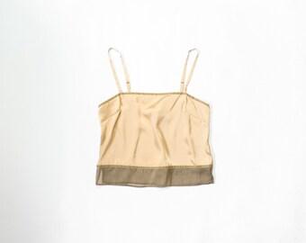 90s Art Deco Cami Satin Camisole 1990s Victorias Secret Lingerie Top 1920s Flapper Inspired Intimates Sleep Shirt Boudoir Champagne Medium