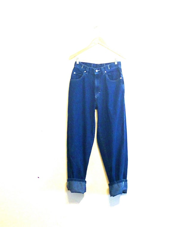 Baggy 90s Jeans, Vintage Lee Jeans, 90s Mom Jeans, High Waisted, Buckles Big Pocket, Denim Trousers, 1990s Wide Leg Jeans, Sz 8 Waist 28""