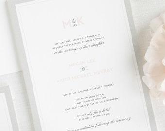 Modern Initials Wedding Invitations - Deposit