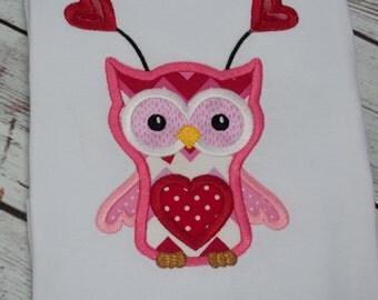 Valentines Day Shirt - Valentines Day Shirt Girls - Valentine Owl - Valentine Shirt - Girls Valentine Shirt - Toddler Girl Valentine Shirt
