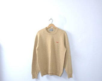 Vintage 80's LeTigre wool sweater, beige sweater, size large