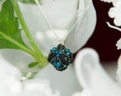 Beaded bead pendant necklace | Sterling silver | MADE TO ORDER | Beadwoven pendant | ooak | Unique gift for her