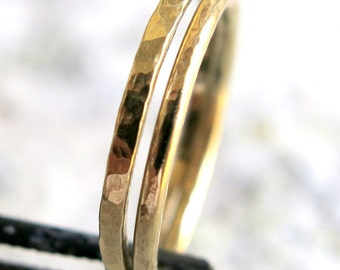 14k Gold Stacking Ring, Wedding Band Ring, Engagement Ring, Men Ring, Promise Ring, Women Ring, Gold Ring, Handmade Jewelry, Venexia Jewelry