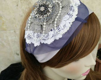 New, Lovely Headband,Jewish hair covering ,Bandana cotton,just tie in the back, Haarband, by oshratDesignz