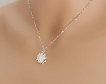 Lotus Filigree Flower, Lotus Necklace, Flower Pendant, Flower Jewelry, Sterling Silver, Gift Idea, For Her, BeadXS, Lotus Flower