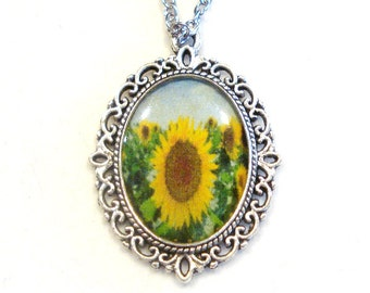 Sunflower Necklace Pendant Jewelry