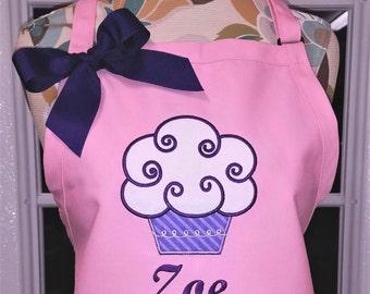 Monogrammed Apron Cupcake Apron Personalized Apron Baking Apron