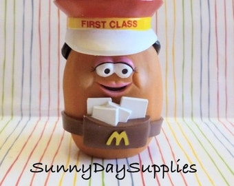 Vintage McDonald's Happy Meal Toys, McNugget Buddies, First Class Mail, Mailman, Mail Carrier, Chicken McNuggets, 1988, Food Toys