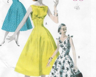 Retro 56 Fitted Dress Womens Size 14 16 18 20 Uncut Sewing Pattern