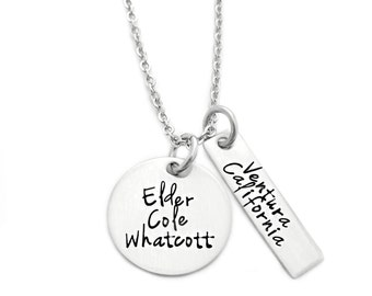Personalized Missionary Necklace - Engraved Missionary Necklace - Elder -Sister - LDS Mission - Religious Jewelry - Mother Jewelry - Mom