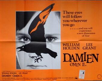 Damien: Omen II Original 1978 UK Quad Film Poster