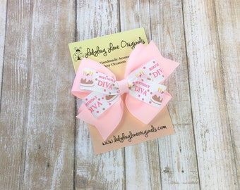 Birthday Bow - Hair Bows for Girls - Girls Birthday Bow - Gifts for Girls - Happy Birthday Bow - Girls Hair Bows - Toddler Hair Bow