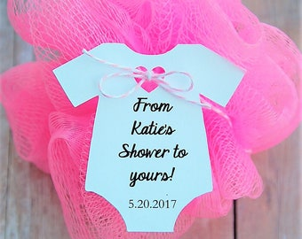 "10 tags ~ From My Shower To Yours Gift Tags ~ Baby Onesie Gift Tags ~ Baby Shower Tags ~ 2 1/2"" ~ (J)"