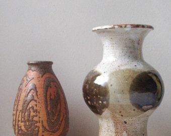 pottery vase, studio pottery vase, vintage vase,earthy brown, natural decor, rustic, studio pottery