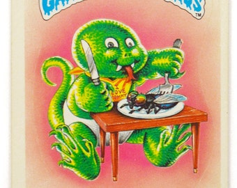 Vintage 80s Garbage Pail Kids Slimy Sam 38a Series 1 Glossy Sticker Trading Card